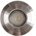 "2"" LED 3W IN-GRADE STAINLESS STEEL LOW PROFILE FIXTURE 12V AC/DC"