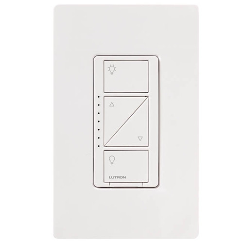 lutron caseta wireless 600 watt in wall dimmer 150 watt led cfl white la lighting. Black Bedroom Furniture Sets. Home Design Ideas