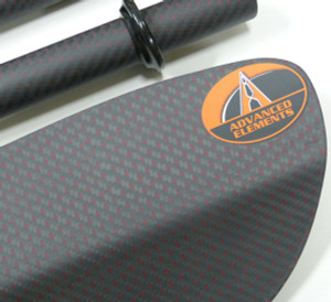 AE2035 Full-carbon paddle closeup.