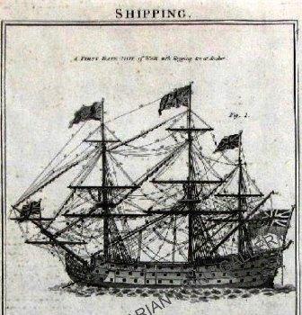 British Man-of-War Batteship Royal Navy