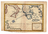 """The Navigation of Ulysses according to Homer"" Christopher Browne c.1725"