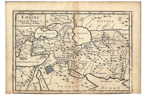 """""""The Empire of Cyrus the Great first King of Persia"""" Christopher Browne c.1725"""