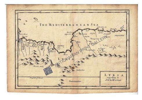 """Libia according to Herodotus"" Christopher Browne c.1725"