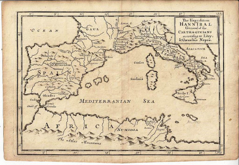 """""""The Expedition of Hannibal General of the Carthaginians..."""" Christopher Browne c.1725"""