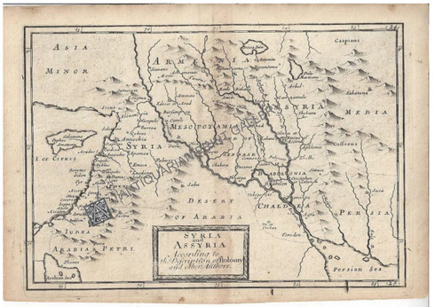 """""""Syria and Assyria According to the Description of Ptolomy"""" Christopher Browme 1725"""