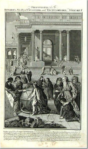 Frontispiece of Encyclopaedia of Arts  & Sciences Volume III c.1788