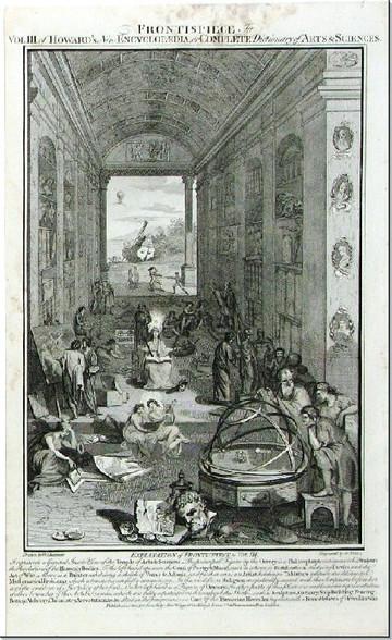 Art Science Encyclopedia Frontispiece Vol 3 c.1788