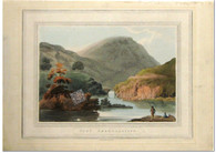 Rural Landscape Wales Pont Aberglasslyn Folklore Devil Fishing Antique Print