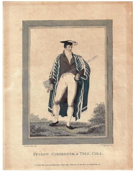 """""""Fellow Commoner"""" Trinity College, Cambridge University, Harraden c.1803"""
