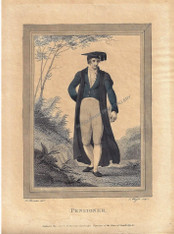 Academic Robes Fashion Pensioner Cambridge Harraden Antique Print