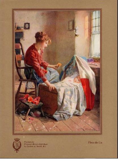 """""""Fleur-De-Lis"""" by illustrator Calton A Smith for Princess Mary Gift Book 1914"""