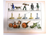 Children Education Maths Governess Vegetables labourers candlesticks Antique Print