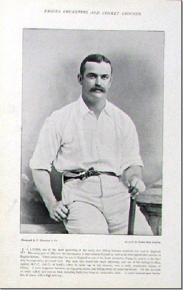 """ J.J. Lyon"" All-rounder, Antique photogravure, 1897"
