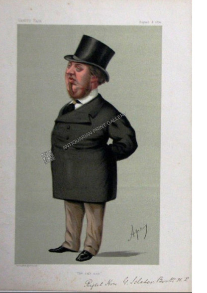 "Vanity Fair caricature featuring the fashion icon, a top hat,  ""the safe man"" by APE"