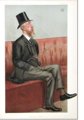 """Caricature, Vanity Fair, The Duke of Devonshire, 1902, Spencer Compton Cavendish, """"Education and Defence"""" Antique Chromolithograph by SPY, Sir Leslie Ward, Vincent Brook, Day & Son  London, 1902."""