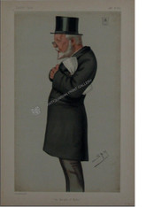 """Vanity Fair """"The King of Malta"""" Sir George Bowyer Antique Chromolithograph"""