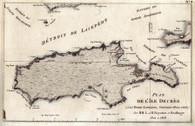 """Plan de L'Ile Decree A La Terre Napoleon: Nouvelle Hollande Par MML et H. Freycinet et Boullanger 1802 et 1803""</H1></font>  Originally Published Paris 1811-12 Baudin, unlike Matthew Flinders, circumnavigated Kangaroo Island. Consequently, when Flinders ""Terra Australis""  in 1814, he was faithful to that fact and kept the French  naming of the South coast of this Island."