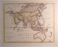 Engraved by map maker Emanuel Bowen circa 1777, we see evidence of the unknown knowledge of teh south east corner of the Australian continent with the discovery of Tasmania's island status  2 decades into the future.