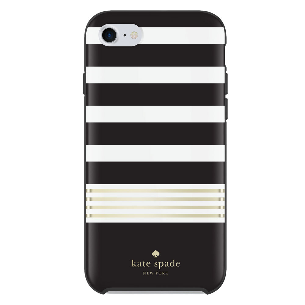 Incipio Kate Spade New York Protective Hardshell Case for iPhone 7 - Black / White / Gold Foil