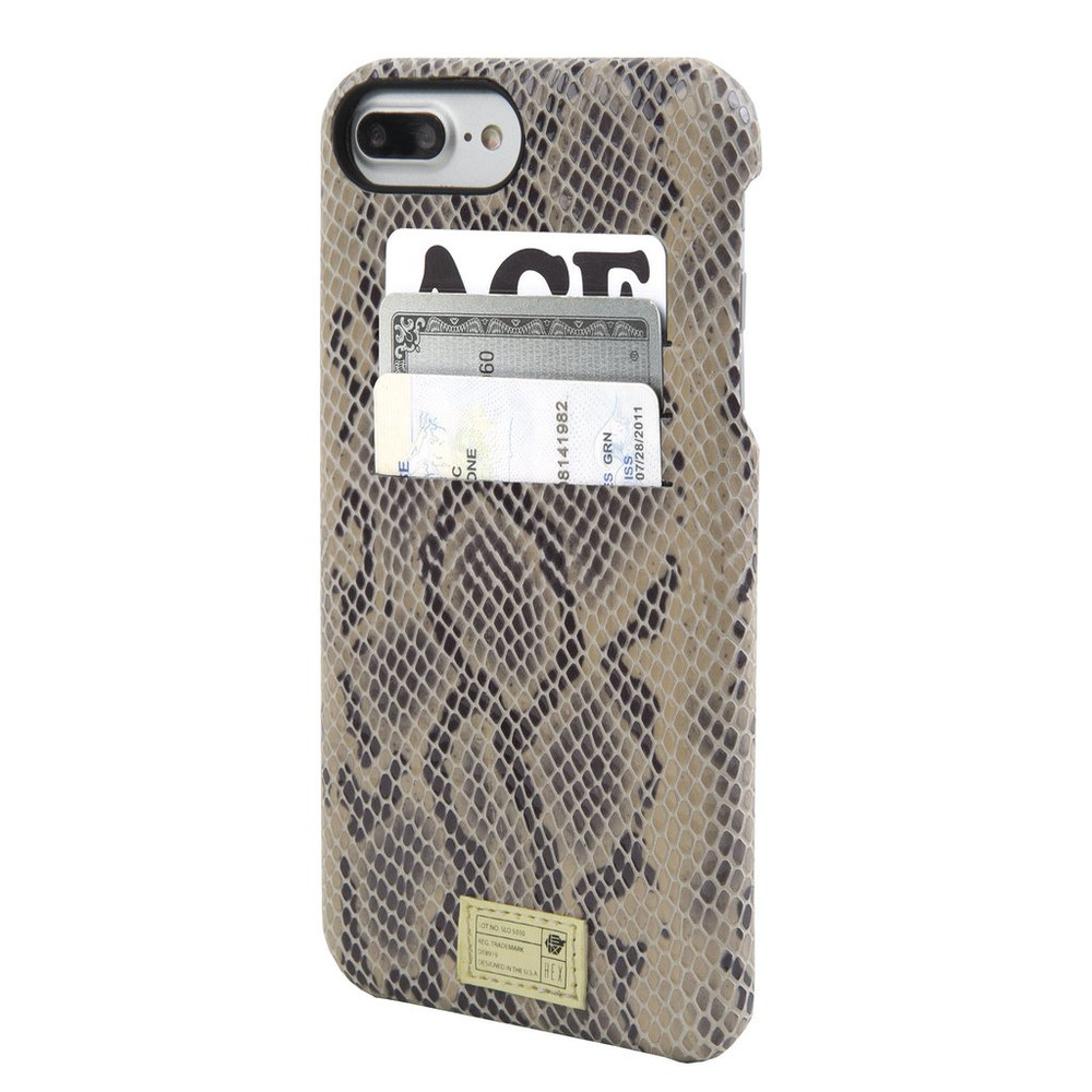 Hex Solo Wallet Case for iPhone 7 - Beige Snake Leather