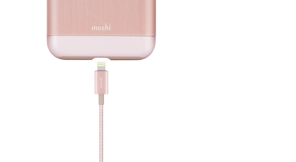 Moshi Integra USB Cable with Lightning Connector - Rose Gold
