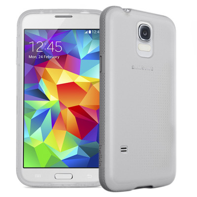 Belkin Grip Candy Case for Samsung Galaxy S5 - Clear / Gravel