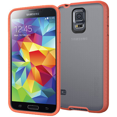 Incipio Octane for Samsung Galaxy S5 - Frost / Neon Orange