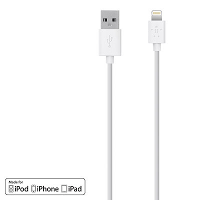 Belkin MIXIT Lightning to USB Charge Sync Cable - White