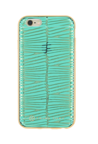 Trina Turk Translucent Metallic Bumper Case for iPhone 6S / 6 - Descanso Teal / Clear
