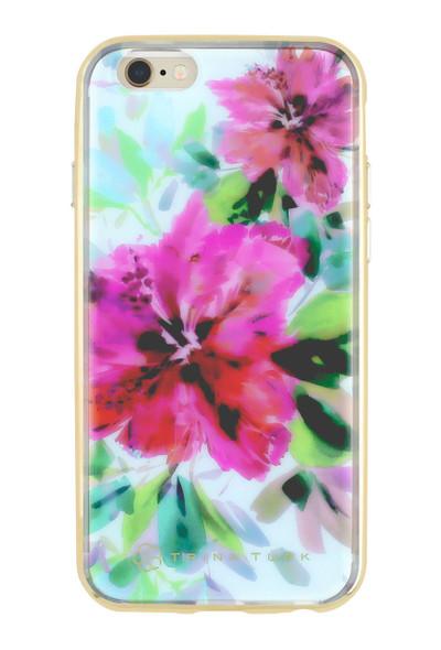 Trina Turk Translucent Metallic Bumper Case for iPhone 6S / 6 - Hibiscus Floral Blue