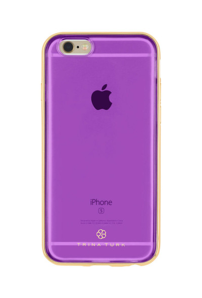 Trina Turk Translucent Metallic Bumper Case for iPhone 6S / 6 - Purple / Gold