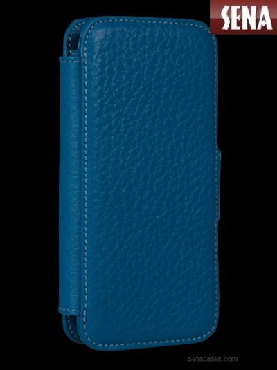 Sena WalletBook for iPhone SE / 5S - Baby Blue