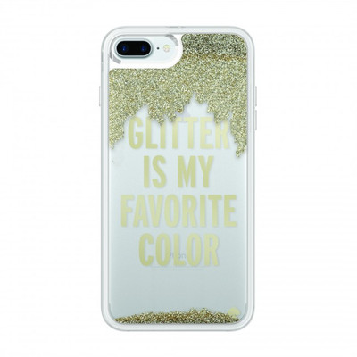 Incipio Kate Spade New York Liquid Glitter Case for iPhone 7 Plus - Glitter is My Favorite Color - Gold / Clear