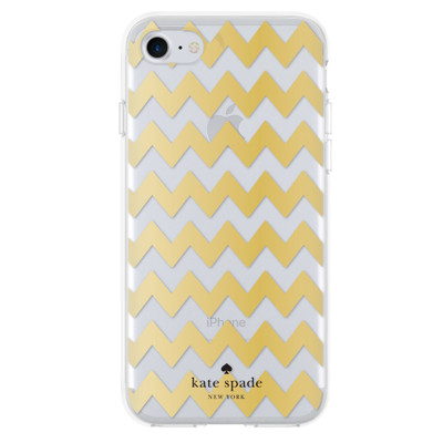 Incipio Kate Spade New York Protective Hardshell Case for iPhone 7 - Chevron Gold Foil / Clear