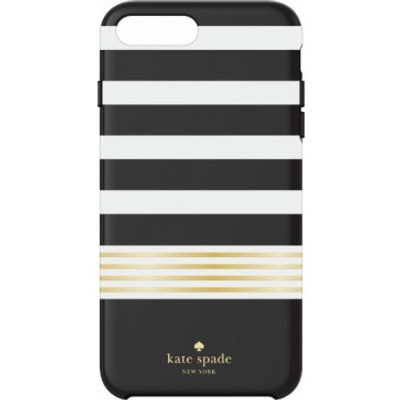 Incipio Kate Spade New York Protective Hardshell Case for iPhone 7 Plus - Black White / Gold Foil