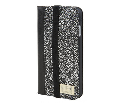 Hex Icon Wallet for iPhone 7 - Black / White Stingray
