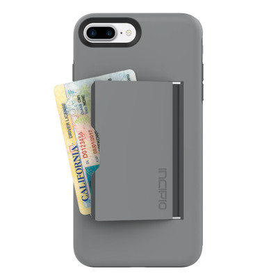 Incipio Stowaway Credit Card Case for iPhone 7 Plus - Gray / Charcoal