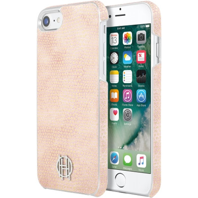 House of Harlow Snap Case for iPhone 7 - Pink Kraits / Silver Metallic