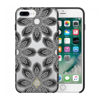 Vera Bradley Flexible Frame Case for iPhone 7 Plus, 6 Plus, 6S Plus - Blanco Bouquet Black / Cream