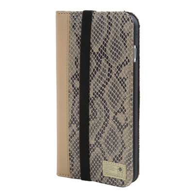 Hex Icon Wallet for iPhone 7 Plus - Beige Snake Leather