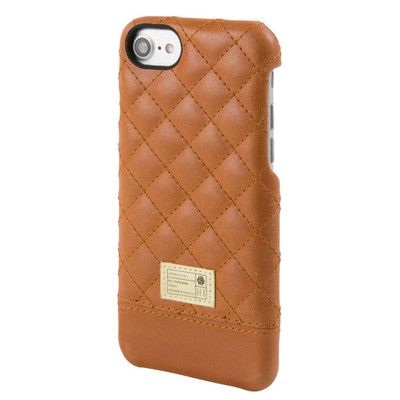 Hex Focus Case for iPhone 7 - Brown Quilted Leather