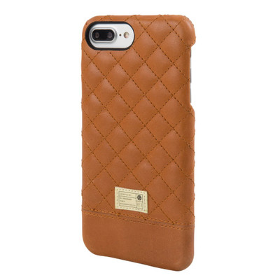 Hex Focus Case for iPhone 7 Plus - Brown Quilted Leather