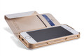 Element Soft-Tec Wallet for iPhone 5S / 5 - White / Gold