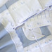 Baby boy bedding set in blue Primel with Duckling & French Ribbon