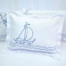 """Boudoir Pillow with """"Embroidered Sailboat"""""""