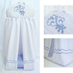 "Diaper Stacker with ""Embroidered Sailboat"""