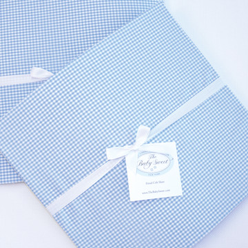 """Fitted Crib Sheet for """"Embroidered Sailboat"""""""