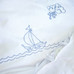 """Duvet Cover with """"Embroidered Sailboat"""""""