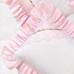 """Boudoir Pillow in pink """"Celeste"""" & white """"Primel"""" with 'Flora' & 'Giraffe'"""