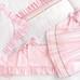 "Crib Ensemble in pink ""Celeste"" & white ""Primel"" with 'Flora' & 'Penelope'"